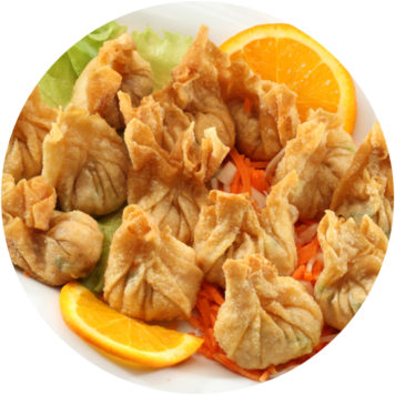 10. FRIED WONTON WITH CHICKEN