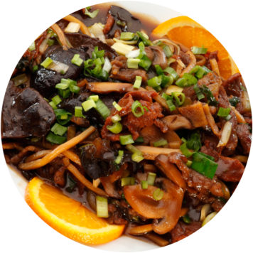 103. BEEF WITH MUSHROOMS AND BAMBOO SHOOTS