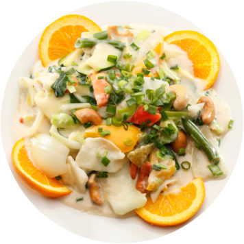 114. ASSORTED VEGETABLES IN ALMOND SAUCE