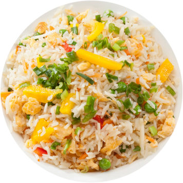 137. FRIED RICE WITH VEGETABLES