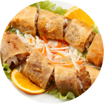 17. MIXED MEAT SPRING ROLLS
